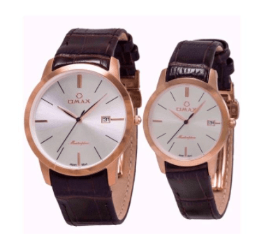 ست ساعت مچی عقربه ای زنانه و مردانه اوماکس مدل MG01R65I